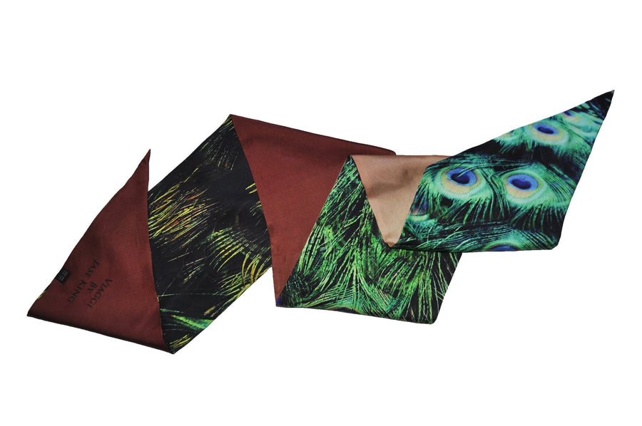 Peacock Paradise Signature Scarf, Signature Scarves - Viaggi By Jase King
