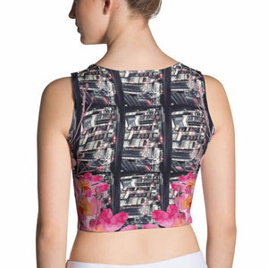 Tokyo Pulse Fitted Crop Top, Sublimation Crop Top - Viaggi By Jase King