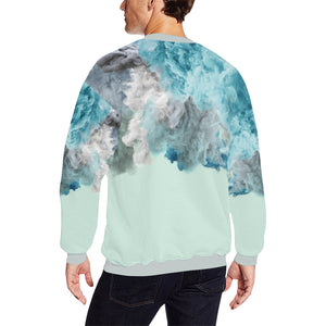 Humo Azul Fleece Sweater, Fleece Crewneck Sweaters - Viaggi By Jase King