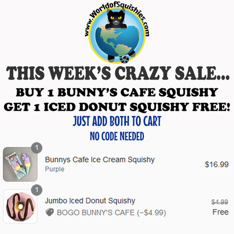 Buy One Get One Free Bunny's Cafe Squishies