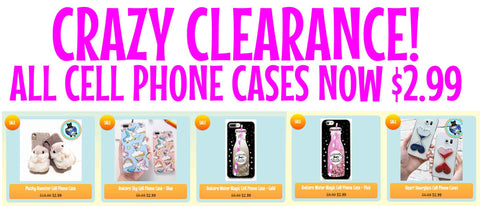Crazy Cheap Cell Phone Cases at World of Squishies