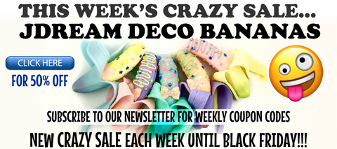 50% Off JDream Deco Banana Squishies