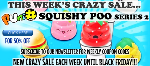 Puni Maru Crazy Poo Squishies 50% Off Sale