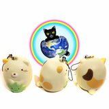 Calico Kitty Cat Charm Squishy