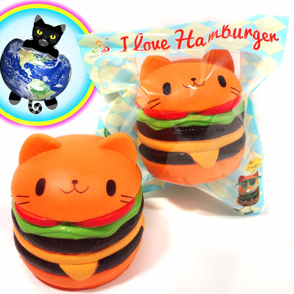 Jumbo Cat Hamburger Squishy Sanqi Elan