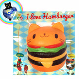 Jumbo Cat Hamburger Squishy Sanqi Elan Shown out of bag