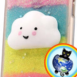 Glitter Cloud Squishy Cell Phone Case