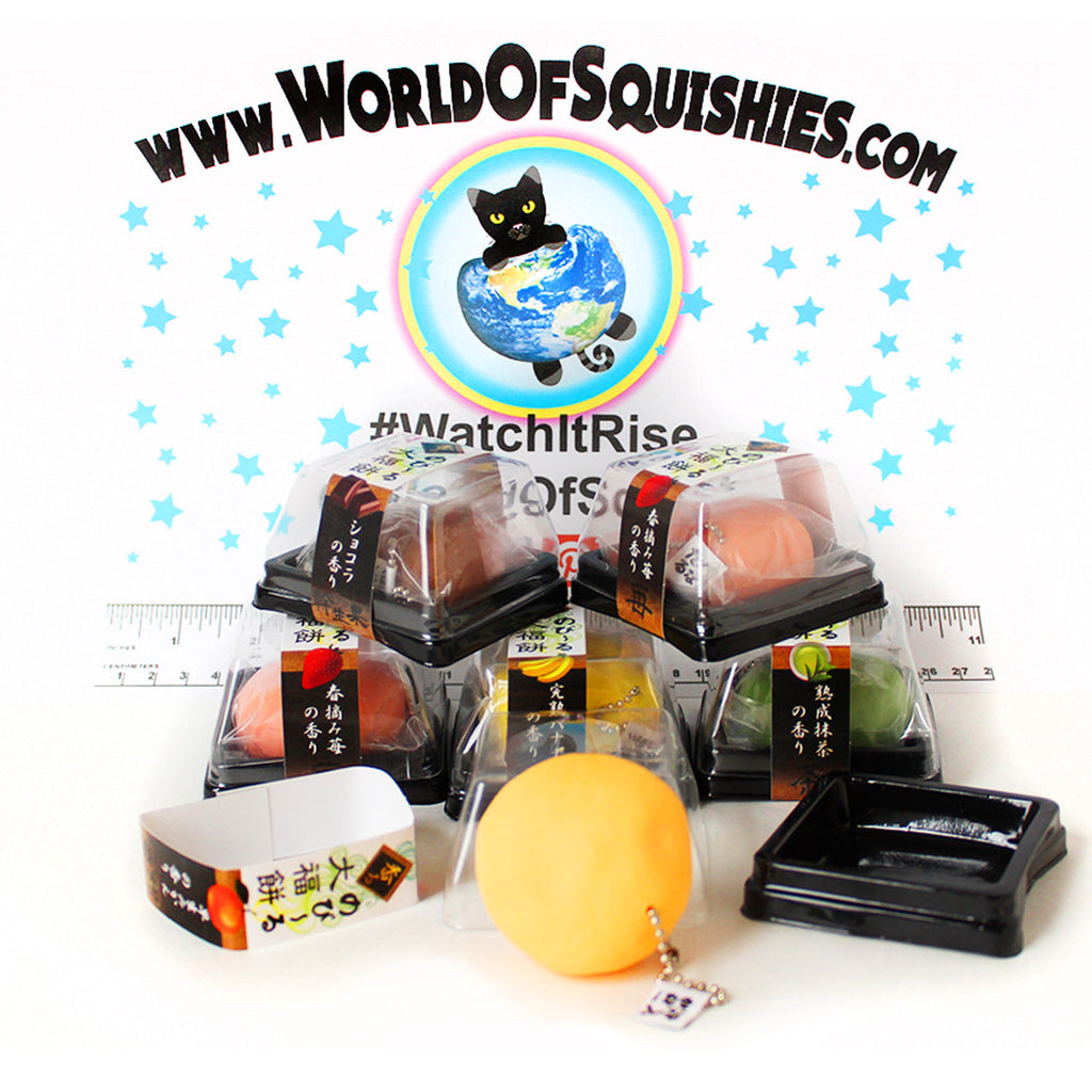 Japanese Daifuku Mochi Stretchy Squishy Charms at World Of Squishies