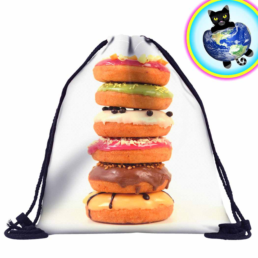 Donut Pile-Up Drawstring Backpack