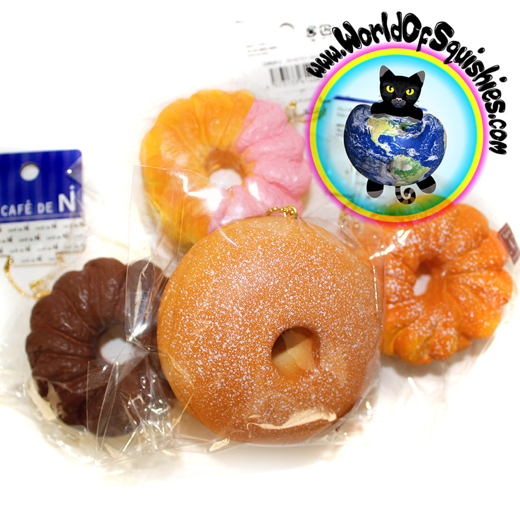 Cafe De N Squishy Package : Cafe De N Crullers & Donuts Squishy Charms