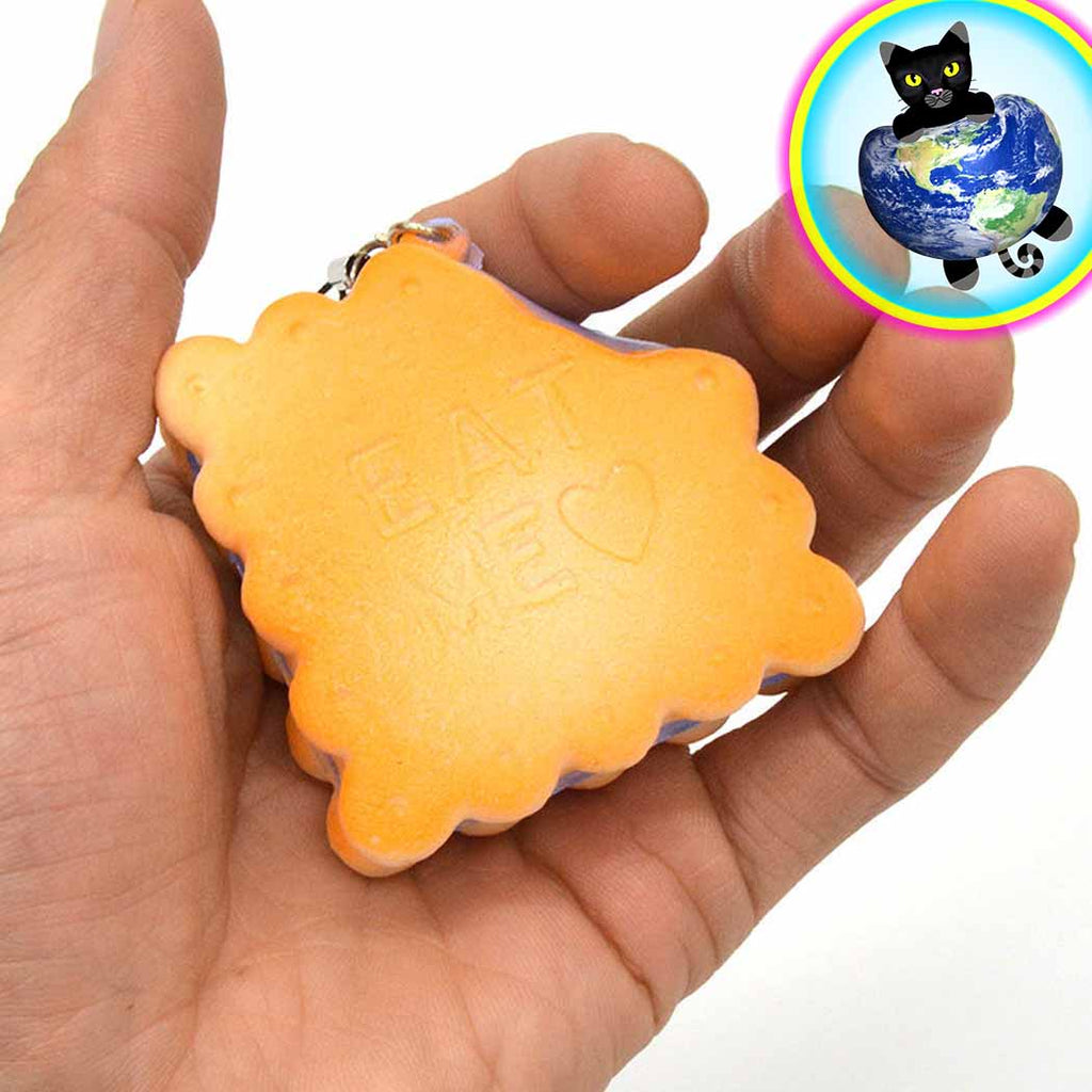 Eat Me Cookie Squishy shown in hand