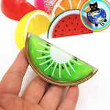 Fruit Slime Containers shown in hand