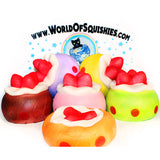 Funny House Strawberry Puff Squishies in all 6 Colors