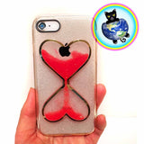 Pouring Hourglass Cell Phone Cases
