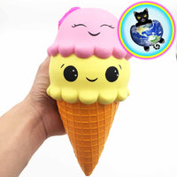 Giant Double-Scoop Ice Cream Cone Squishy