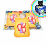 Kiibru Jumbo Sliced Toast Squishy Shown in and Out of bag