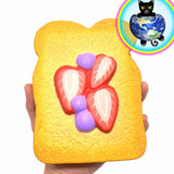 Kiibru Jumbo Sliced Toast Squishy shown in hand
