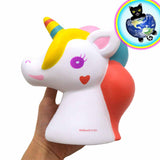 Kiibru Super Colossal Unicorn Squishy shown in hand
