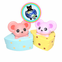 Kiibru Jumbo Cheese Mouse Squishy