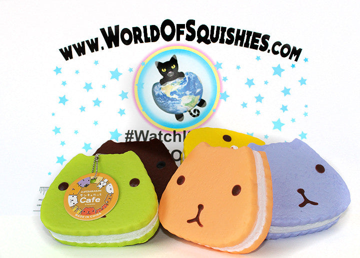 Kapibarasan Layered Cream Cake Biscuit Squishy in Various Colors at World Of Squishies