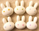 Marshmallow Bunny squishies shown in all colors unwrapped