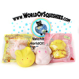 Kiibru Spring Marshmallow Squishies shown in resealable packaging and outside bag