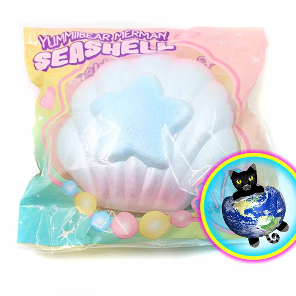 Puni Maru Merman Seashell Squishy in Packaging