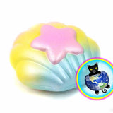 Puni Maru Merman Seashell Squishy out of Packaging