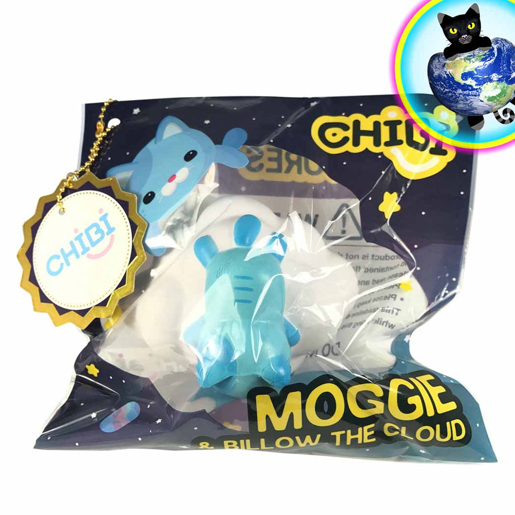 Chibi Moggie and Billow the Cloud Squishies