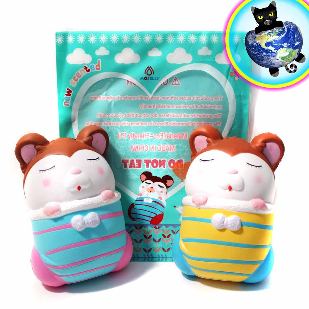 Mojelly Stocking Mice Squishies shown out of bag