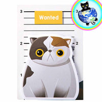 Wanted Fat Cat Sticky Notes
