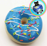 Frosted Donut Squishy shown in blue