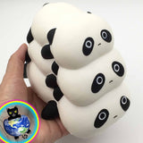 Panda Pile-Up Slow Rising Squishy Shown in Hand