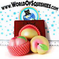 iBloom Peach Squishy Medium Size in Pearl Pink and Pearl Yellow at World Of Squishies