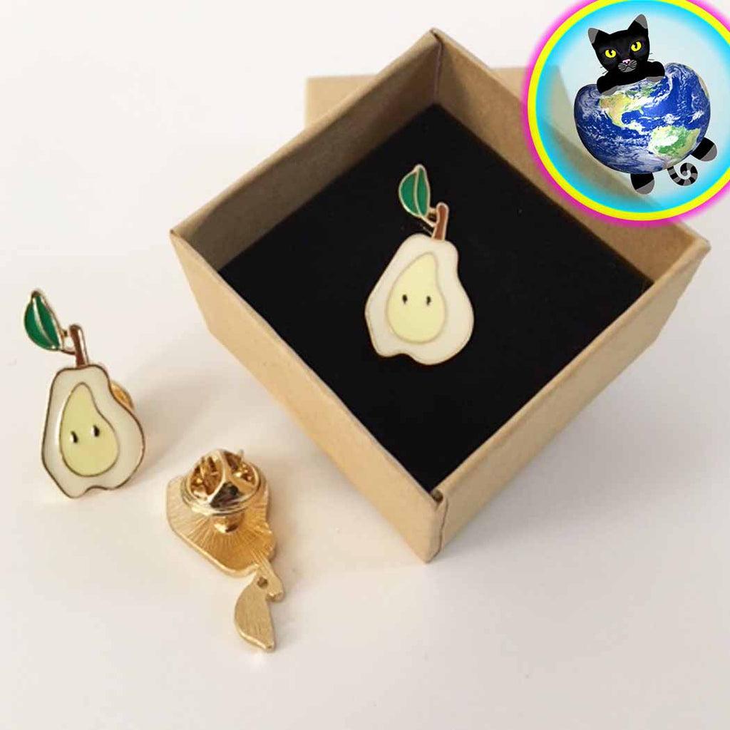 Pear Enamel Fashion Pin