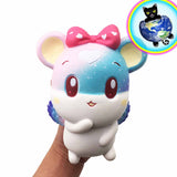 Jumbo Starry Angel Mouse Squishy shown in Hand