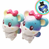 Jumbo Starry Angel Mouse Squishy shown in Both colors