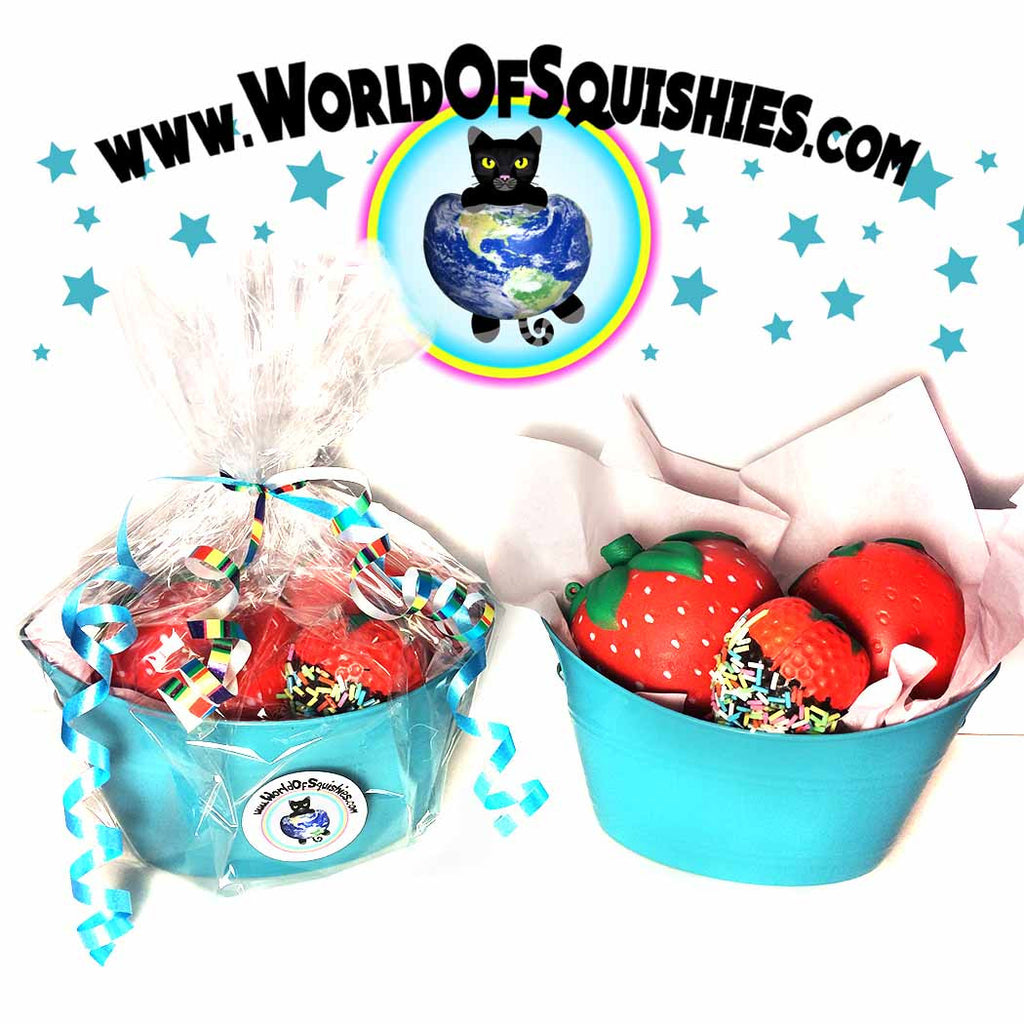 Summer Strawberry Squishies basket