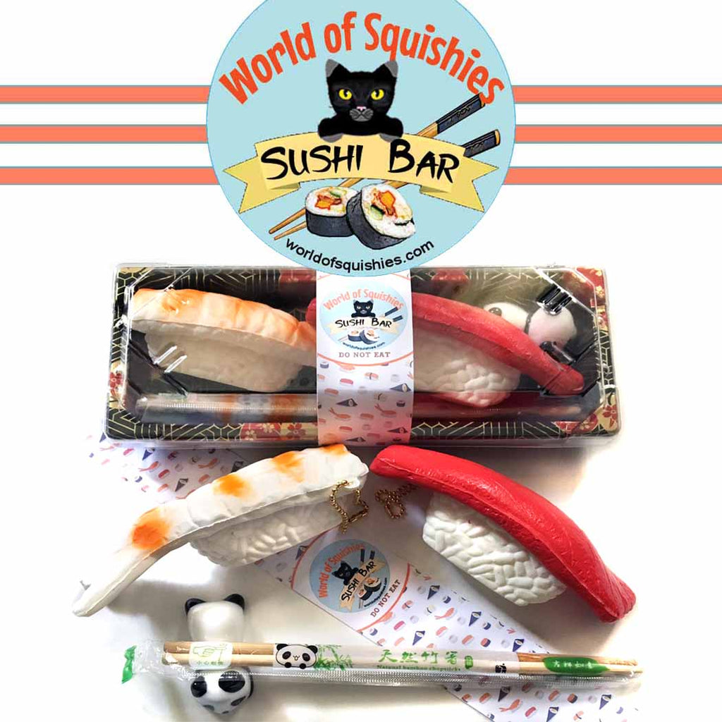 World of Squishies Sushi Gift Set Opened