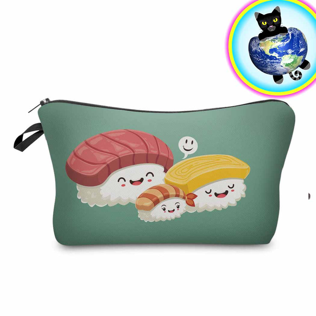 Sushi Pencil Case Makeup Bag Purse