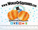 Toasted Sesame Roll Squishies Top View at World Of Squishies