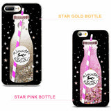 Unicorn Water cell phone cases shown in gold and pink