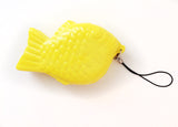 Kawaii Fish Charm Squishy in Yellow