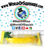 Areedy Banana Squishy in wrapper from world of squishies