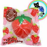 iBloom I love strawberry super big squishy in red