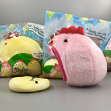 Cutie Creative Clucky Pals Plushy Squishies Shown in Pink