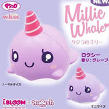 iBloom Roxy the Whale squishy purple millie the whale in Jumbo and Mini