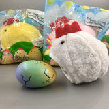 Cutie Creative Clucky Pals Plushy Squishies Shown in White