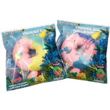 Rainbow and Galaxy Narwhal Donut Squishies shown in packaging