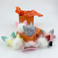 Kawaii Kitty Hair Clip shown in all colors